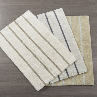 Madison Park Jaden Cotton Tufted Stripe Rug 3 Color Option