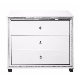 Elegant Lighting Clear Mirror Finish Crystal 39.5-inch 3-drawer Cabinet