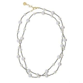 Handmade Saachi Pearl Long Necklace ( China ) - White