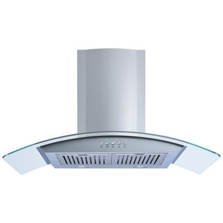 "Winflo O-W101C30D 30"" Convertible Stainless Steel Glass Wall Mount Range Hood"