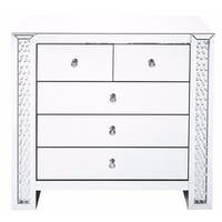 39.5 inch Crystal five drawers Cabinet in Clear Mirror Finish