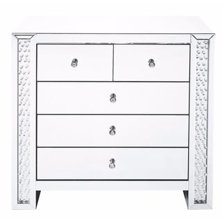 Elegant Lighting Clear Crystal Mirrored 39.5-inch 5-drawer Cabinet