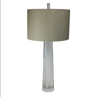 Urban Designs Crystal Column Clear Glass 33-inch Table Lamp