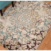 Westfield Home Cairo Collection Alessia Distressed Taupe Area Rug (7'10 x 10'6)