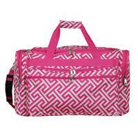 World Traveler Greek Key 22-inch Lightweight Duffle Bag