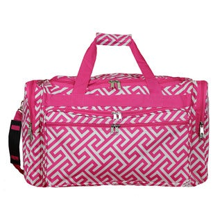 World Traveler Greek Key 22-inch Lightweight Duffle Bag