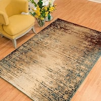 Westfield Home Cairo Keely Wine Distressed Area Rug (5'3 x 7'2)