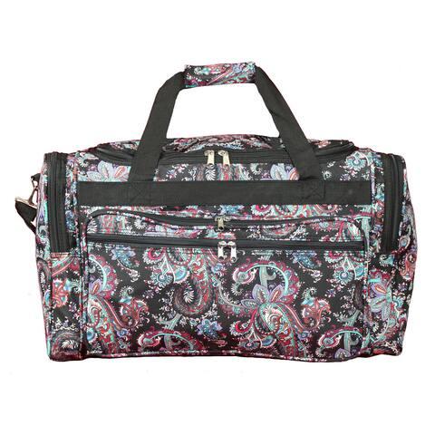 World Traveler Paisley 22-inch Lightweight Duffle Bag
