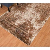 Westfield Home Cairo Nora Distressed Brown Area Rug - 5'3 x 7'2