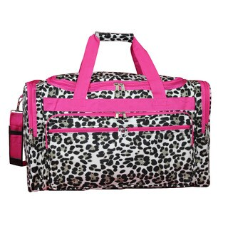 World Traveler Pink Trim Cheetah 22-inch Lightweight Duffle Bag