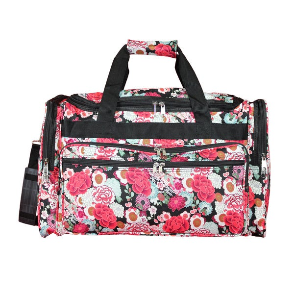Shop World Traveler Floral 22-inch Lightweight Duffle Bag - Free Shipping  On Orders Over  45 - Overstock - 19429726 b7b3cab26770e