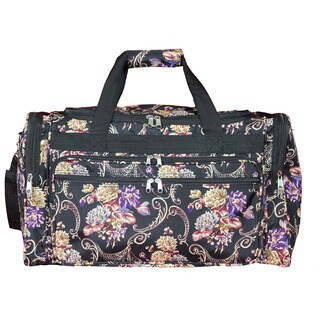World Traveler Classic Floral 22-inch Lightweight Duffle Bag