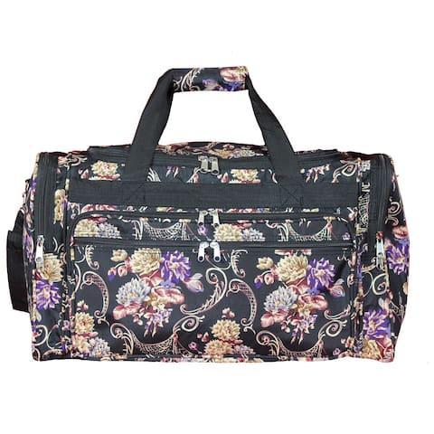World Traveler Classic Floral 22-inch Lightweight Duffle Bag
