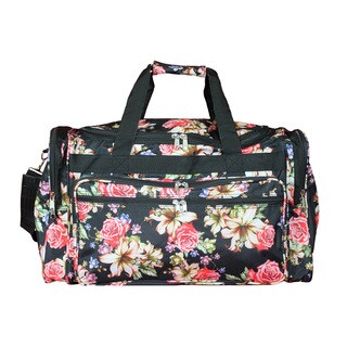 World Traveler Flower Bloom 22-inch Lightweight Duffle Bag