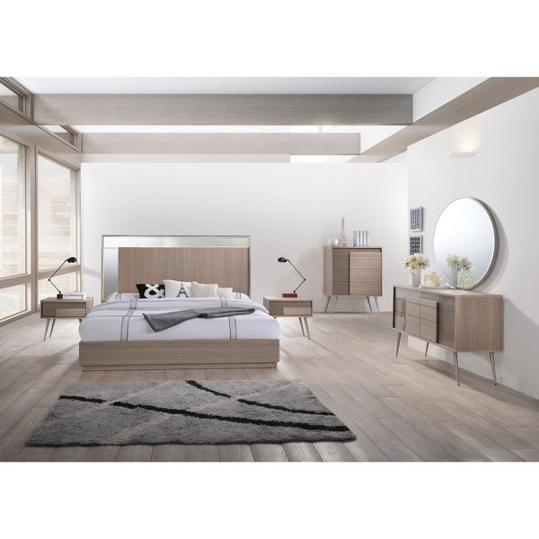 Strick & Bolton Meade Taupe Bronze 5-piece Bedroom Set