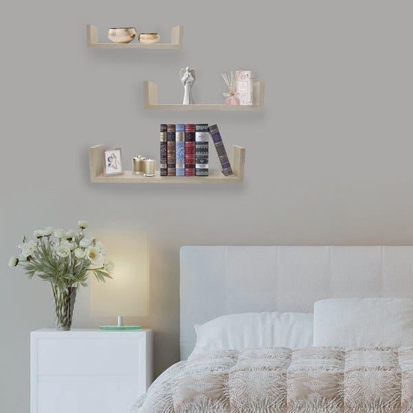 Sorbus Floating Shelves U Shaped Hanging Wall