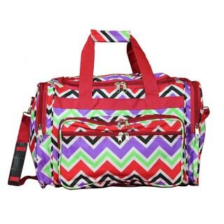 World Traveler Chevron Multicolor 19-inch Lightweight Carry-On Duffle Bag