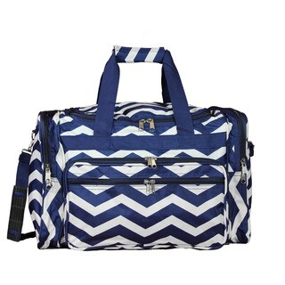 World Traveler Chevron 19-inch Lightweight Carry-On Duffle Bag