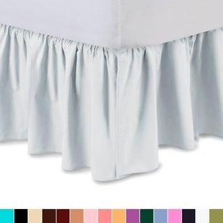 Harmony Lane Full XL Size Ruffled Bed Skirt Dust Ruffle