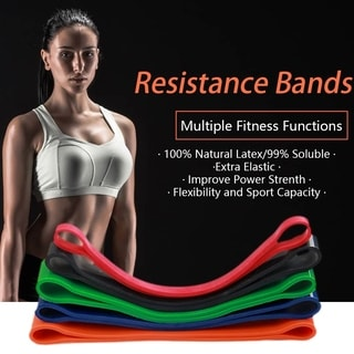 set of 5 Natural Latex Pull Up Assisted Bands Resistance & Stretch