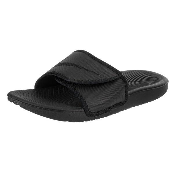 a6a855e297e6 best price nike kawa mens adjustable slide sandal white black white black 9  99b24 3fd27  italy nike menx27s kawa adjust sandal fff93 0ba10