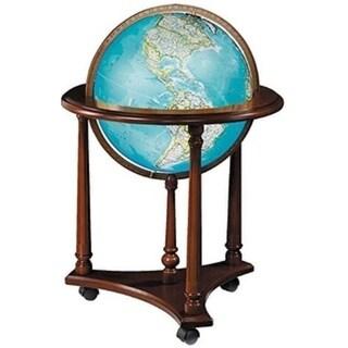 National Geographic Kingsley Walnut Finish Wood and Paper World Globe