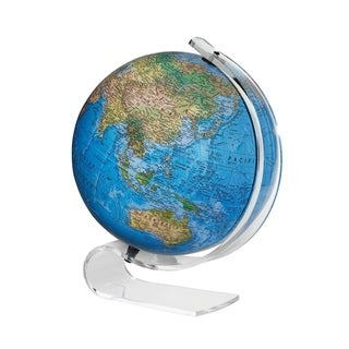 Consulate Illuminated Blue Acrylic Desktop World Globe