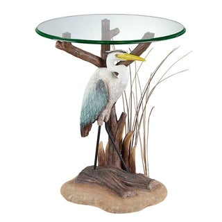 Seahaven Natural Heron Accent Table  Neutral