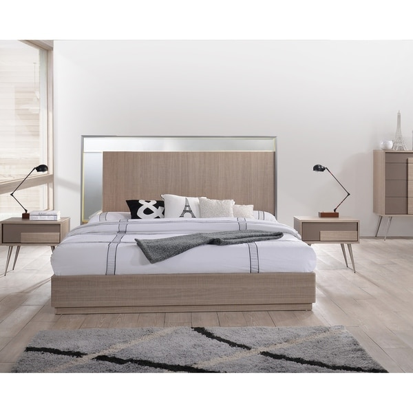 Shop Best Master Furniture Brazil Taupe Bronze Platform Bed Free Gorgeous Abf Furniture Decor
