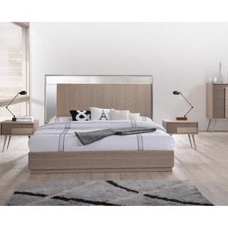 Best Master Furniture Brazil Taupe Bronze Platform Bed