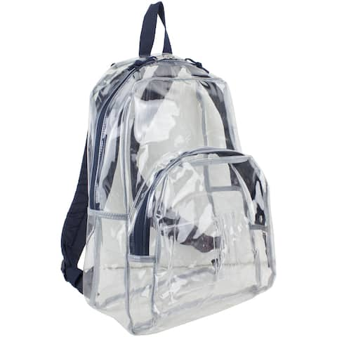 Eastsport Clear Backpack, Fully Transparent with Padded Straps
