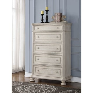 Barton Creek White Rubberwood 5-drawer Chest
