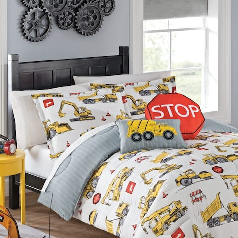 Waverly Kids Under Construction Reversible Bedding Collection - Multi