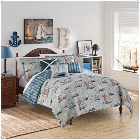 Waverly Kids Set Sail Reversible 3-piece Comforter Set