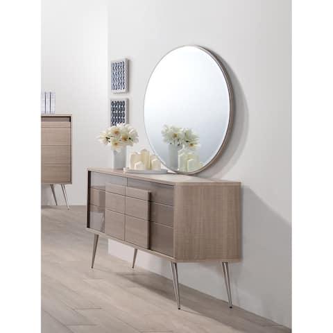 Best Master Furniture Brazil Taupe Bronze 2 Pieces Dresser and Mirror