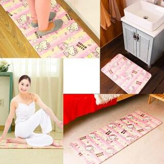 Double-sided Hello Kitty Kitchen Bath/ Bedroom Yoga Cushion Mat