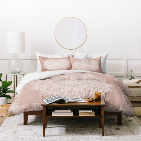 Deny Designs Medallion Blush Duvet Cover Set (3-Piece Set)