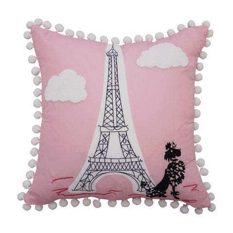 Waverly Kids Ooh La La Embroidered Decorative Accessory Pillow