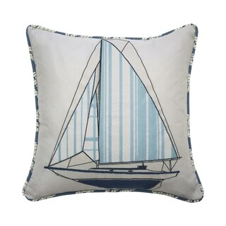 Waverly Kids Set Sail Embroidered Decorative Accessory Pillow