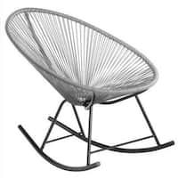Acapulco Grey Metal Frame Rocking Chair