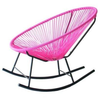 Acapulco Hot Pink Metal Frame Rocking Chair