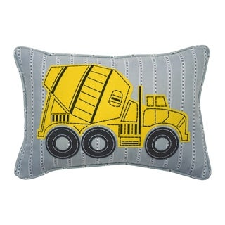Waverly Kids Under Construction Oblong Embroidered Accessory Pillow