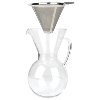 Bialetti Pourover Drip Coffee with Glass Carafe