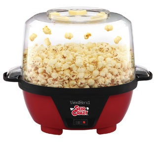 West Bend 82505 Stir Crazy Popcorn Machine, Red