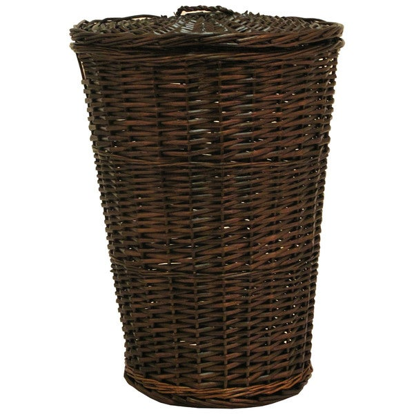 Shop Redmon Home Round Willow Hamper Free Shipping Today
