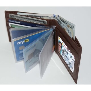 Anti-Theft Genuine Leather Bifold Wallet