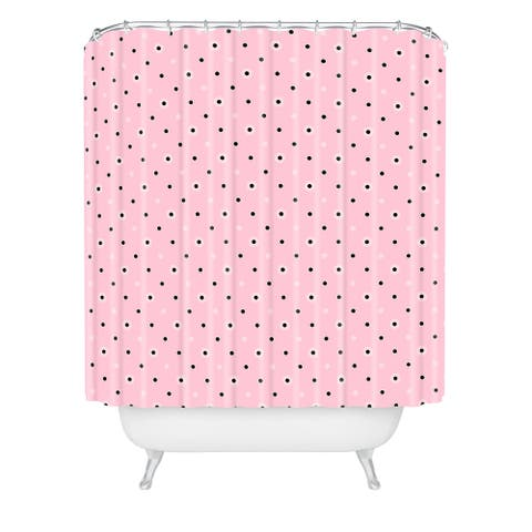 Lisa Argyropoulos Dotty Blush Dots Shower Curtain
