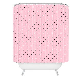 Lisa Argyropoulos Dotty Blush Dots Shower Curtain