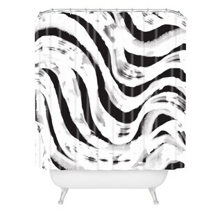 Zoe Wodarz Zebra Reflected Shower Curtain