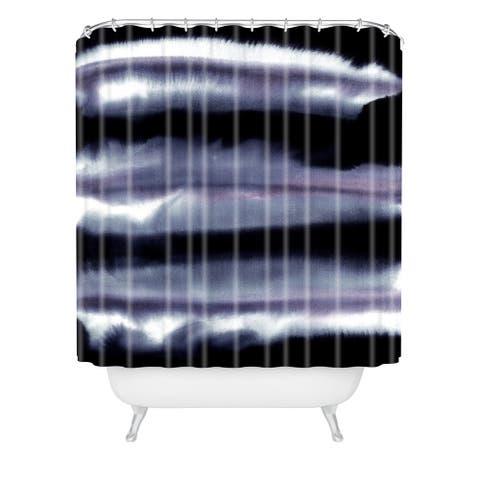 Amy Sia Tempest Monochrome Shower Curtain